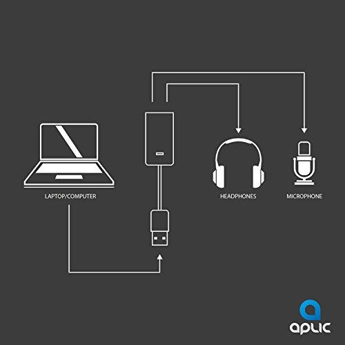 CSL - USB Soundkarte extern - 7.1 Virtuell 3D Surround - für Computer Notebook Ultrabook Tablet-PC - Plug and Play
