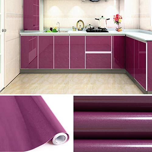 KINLO Tapeten Küche lila 61x500cm aus PVC Klebefolie Aufkleber wasserfest Möbelfolie für Schrank selbstklebende Folie Küchenschrank Küchenfolie Dekofolie selbstklebende Folie Küche MIT GLITZER