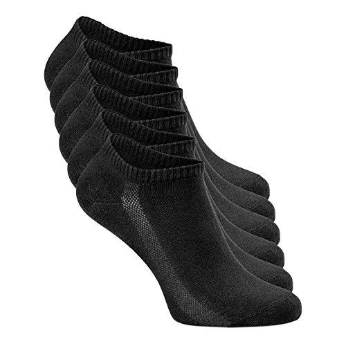 Greylags Sneaker Socken | für Damen & Herren | 6er Pack | Größe 35-38 | Schwarz