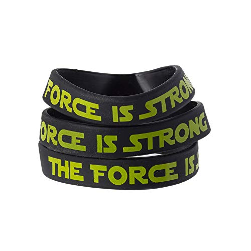 The Force Party Favors Bands, Galaxy Wars Theme Birthday Supplies Goody Bag Kids Teen Tween Size Wrist Bracelets for Boys Girls 24 Pack