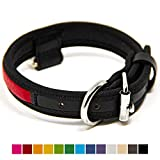 Logical Leather Premium Leather Dog Collar - Best Full Grain Heavy Duty Genuine Leather Collar (Red, Small)