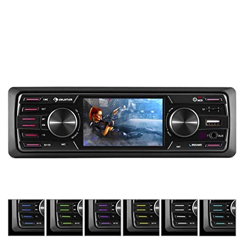 auna MD-550BT, Autoradio, Car-Radio, MP3-Radio, Deckless, Bluetooth, MP3-fähiger USB-Port, Mini-SD-Slot, UKW-PLL-Tuner, AUX-Eingang, schwarz