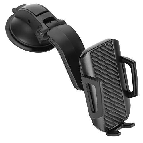 Soporte para teléfono para automóvil, soporte para teléfono móvil portátil, pequeño y ligero, soporte de montaje para teléfono para automóvil ajustable, rotación de 360 °, Pegar soporte de estabilid
