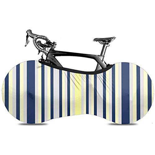 Olive Croft Streifen Vertikal Marineblau Gelb Grau Formen Fahrradabdeckung Erwachsene Fahrradabdeckung Überdachtes Fahrrad Passend für Fast alle Fahrräder