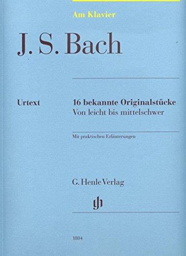 16 bekende originele stukken - gearrangeerd voor piano [noten / Sheetmusic] Componist: Bach Johann Sebastian uit de serie: Aan piano