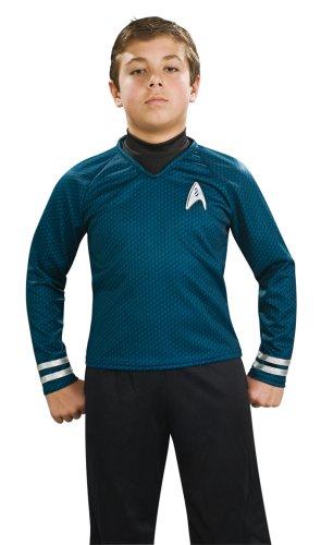 Rubies Déguisement pour Enfant Star Trek Deluxe Bleu Taille S