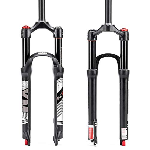BUCKLOS 26/27.5/29 Travel 120mm MTB Air Suspension Fork, Rebound Adjust 1 1/8 Straight/Tapered Tube QR 9mm Manual/Remote Lockout XC AM Ultralight Mountain Bike Front Forks