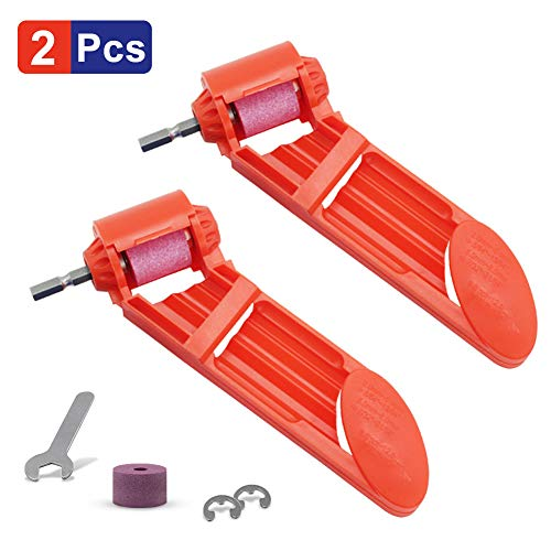 Portable Drill Bit Sharpener Corundum Grinding Wheel Powered Tool for Drill Polishing Wheel Drill Bit Sharp 2pcs Orange