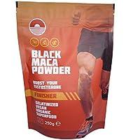 Black Maca Powder Gelatinizada 250G   Suplemento Natural para Testosterona   Mejora el rendimiento atletico   ecológico