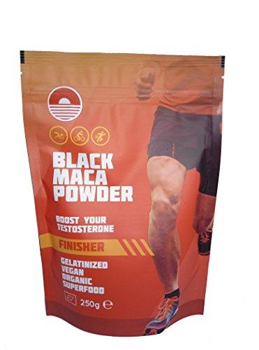 Black Maca Powder Gelatinizada 250G | Mejora el rendimiento atletico | Maca negra gelatinizada ecológica