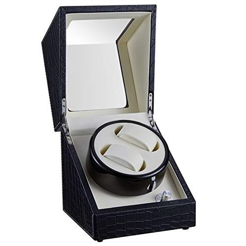 VIY Uhrenbeweger fur Automatikuhren 2 Uhren, Watch Winder Box für alle Automatikuhren Mechanischen Uhren mit leisem Wechselstromadapter oder batteriebetrieben