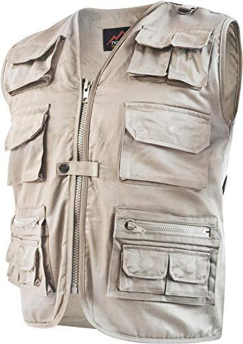 normani Outdoor Weste Safari mit vielen praktischen Taschen Farbe Khaki Größe 5XL