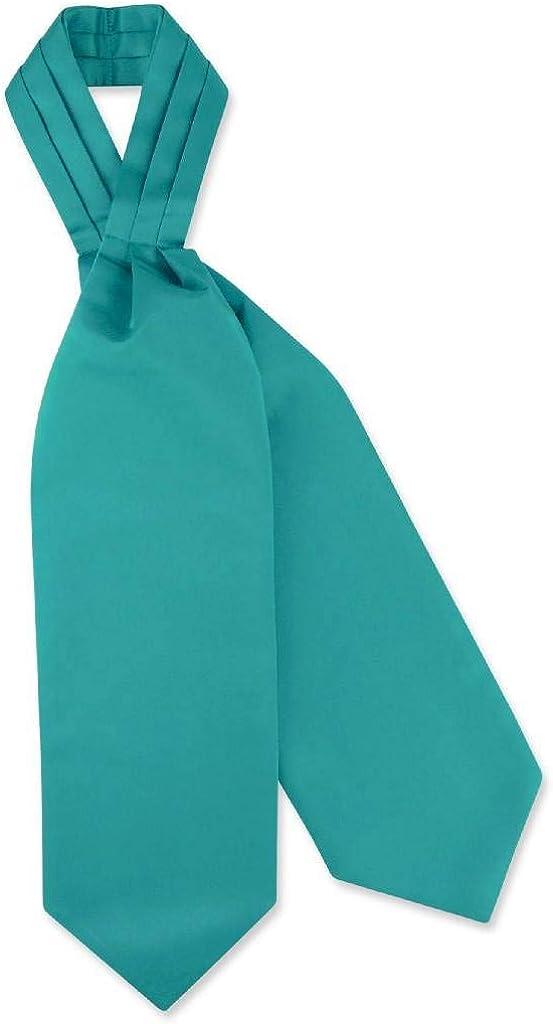 Vesuvio Napoli ASCOT Solid TEAL Color Cravat Men's Neck Tie