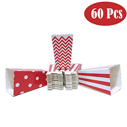 25 cajas de palomitas de maíz alimentos pequeñas Tarjeta Mini Blanco Y Negro Rayado 7cm