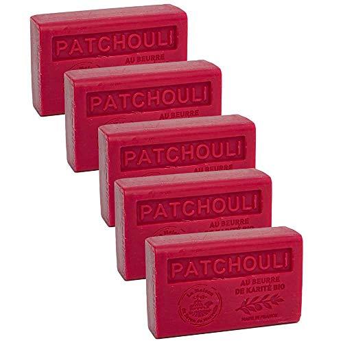 Maison du Savon - 5er-Set Seife Patchouli mit Sheabutter, 5x125 g
