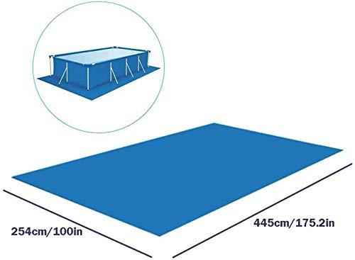 Nobranded Pool Bodenfolie Rechteckig or Rund Schwimmbad Bodenschutz, Faltbares Wasserdichtes Bodenplane Für Pools Für Verschiedene Aufblasbare Pools, Planschbecken (L,Rechteck)