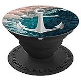Schöne Meerwasser Meer Ozean Welle mit Anker - PopSockets Ausziehbarer Sockel und Griff für Smartphones und Tablets