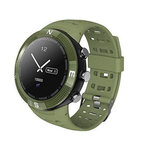 FengsHUAI Smart-armband voor sport in de open lucht, Bluetooth, GPS-positionering, Global sportarmband, hartslagfrequentie en touchscreen, 3D-sporthorloge, groen