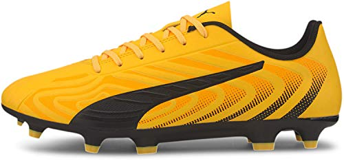 PUMA Men's One 20.4 Firm Artificial Ground Sneaker, Ultra Yellowpuma Blackorange Alert, 12 M US