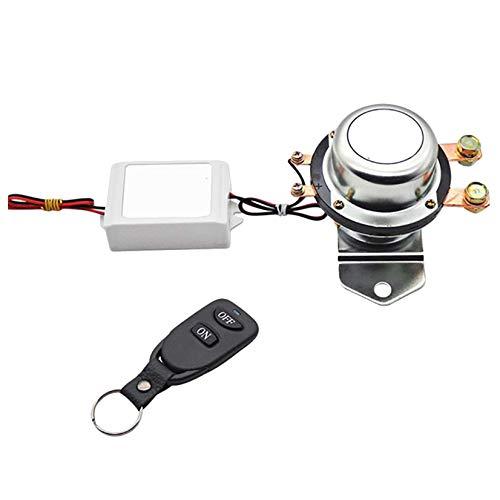 Cuasting Interruptor de desconexión de batería de control remoto de 12 V para coche, autobús, yate, aislador, desconexión de relé