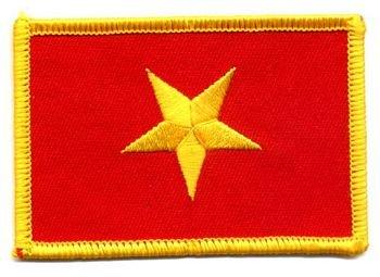 Flaggen Aufnäher Patch Vietnam Fahne Flagge NEU