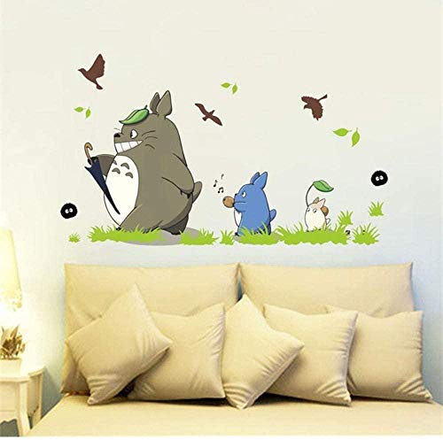 Wandaufkleber Wandbilder Wandtattoo Cartoon Animation Vinyl Totoro Für Kinderzimmer Cafe Bar Home Decoration Poster Totoro Papier 60X90cm