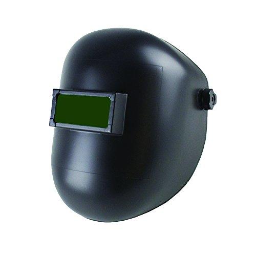Sellstrom Nylon Super Slim Welding Helmet with 4-1/4' x 2' Sel-Snap Fixed Front, Black, S28501