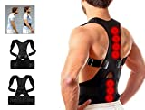 Kwick box Premium Adjustable Unisex Magnetic Back Brace Posture Corrector Therapy Shoulder Belt