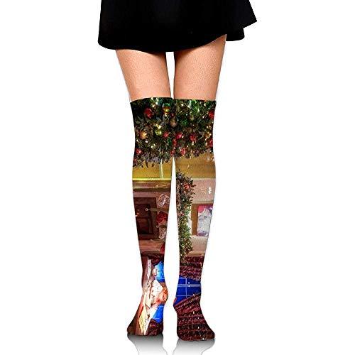 Sportsocken,Baumschmuck Geschenke Zimmer Kamin Mädchen Tisch Weihnachten Frauen Kreative Schöne Socken Für Outdoor Biking Camping 65cm
