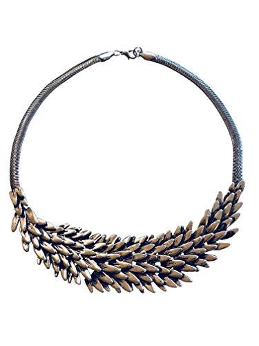 Game of Thrones Merchandise, GoT, Daenerys Targaryen, Mother of Dragons, Khaleesi, Dragon Wing Scale, Bird Feather, House Stark, Necklace, Gift for Women, Teens, Costume Jewelry Necklace, Merchandise