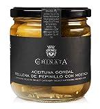Aceituna Gordal Rellena de Pepinillo con Mostaza - La Chinata (340 g)
