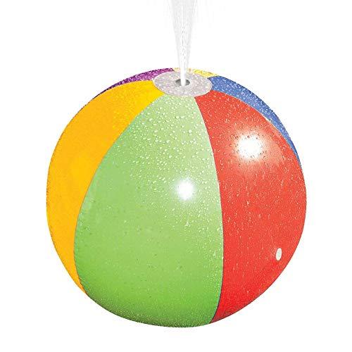 """Kids Inflatable Spray Beach Ball Nicht Verblassen Langlebige Sprinkler Wassersprühball Spielzeug Sommer Wassersport Splash Spray Spielzeug Für Kinder Rasen Im Freien Hot Summer 29,5\""""Dia"""