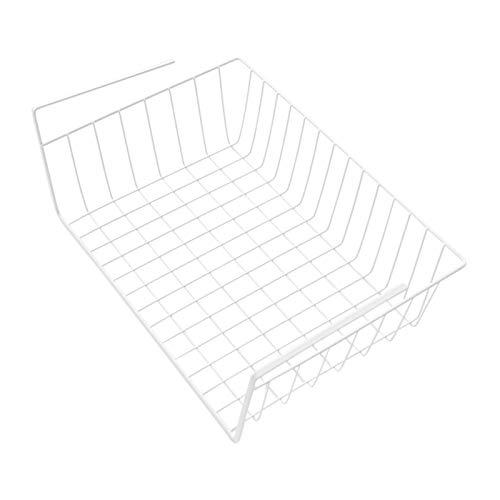 Bajo la Cesta de Alambre del Estante, Debajo del Organizador de cestas deslizantes del gabinete, Canasta Colgante de Metal apilable para la estantería de la Cocina despensa
