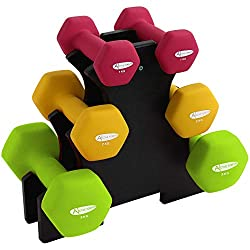[High-quality materials] ACTIVE FOREVER high quality Neoprene Dumbbell will not break or bend after repeated use. Neoprene is also more durable & less prone to splitting than vinyl, making it a more desirable choice for long term use. [Easy to use] T...