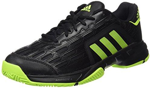 adidas Barricade Court 2, Zapatillas de Tenis Hombre, Negro/Verde (Negbas/Seliso/Hiemet), 39 1/3