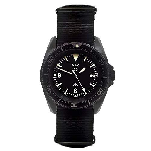 MWC 24Jewels 300m 316L PVD schwarz Edelstahl Automatik Kampfschwimmer Taucher Militär NATO Uhr für Herren