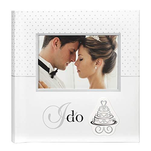 Malden International Designs I Do Wedding Collection 2-Up with Memo Space Photo Album  160-4x6  White