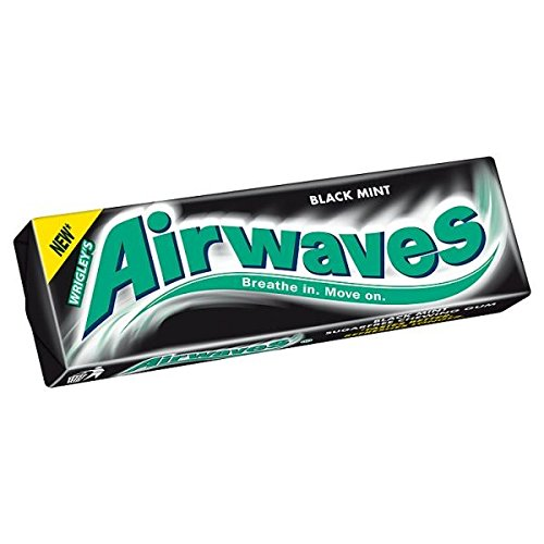 Wrigley's Airwaves Black Mint Flavour Ranking TOP8 Sugarfree 30 Chewing x Max 45% OFF Gum