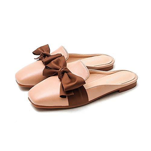 OPNIGHDYMD Chanclas Mujer,Sandalias Planas,Chancletas Antideslizantes Pantuflas Deslizantes Slipper Interiores y Exteriores (Color : B, Size : 38)