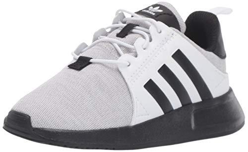 adidas Originals Unisex-Kid's X_PLR EL Running Shoe, Light Grey Heather/Black/White, 7 M US Big Kid