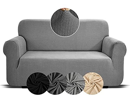 Sofa Covers 2 Seater Dark Grey High Stretch Covers For Sofas Sofa Covers For Leather Sofa Slipcovers Living Room Furniture Elastic Fabric Sofa Cover Recliner Chair Covers Home Settee Protectors