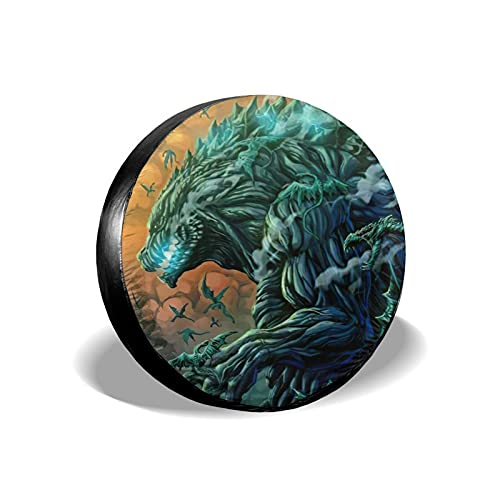 Godzilla Planet Of The Monsters Tire Covers,Travel Trailer Camper Truck Suv Motorhome Wheel Protector Spare Wheel Tire Cover,Accessories Storage 16 Inch