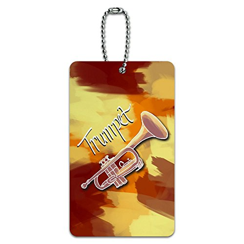 Trumpet - Musical Instrument Music Brass ID Tag Luggage Card Suitcase Carry-On