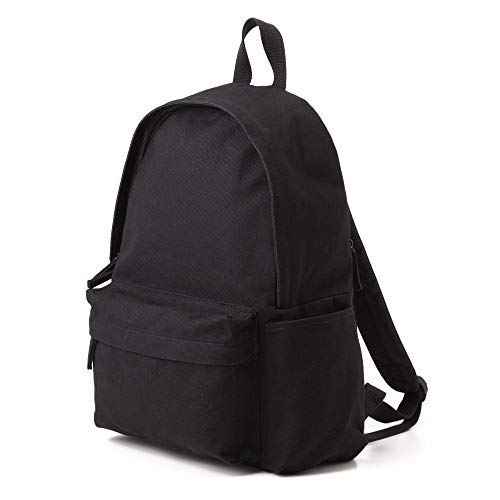 Muji Shoulder Comfort Water Repellent Organic Cotton Rucksack, Black