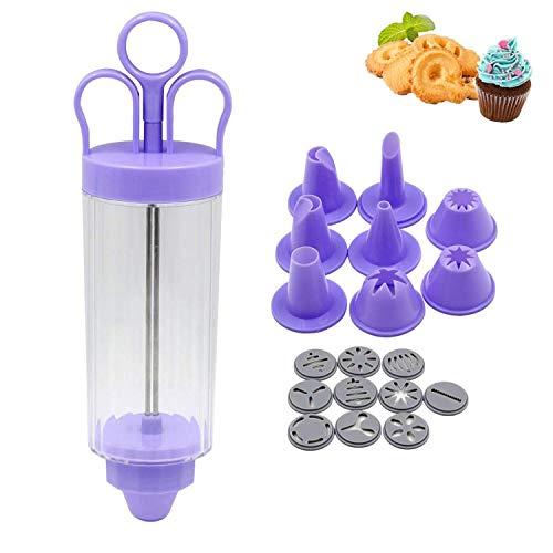 Siringa classica con 8 beccucci, penna decorativa per torte, glassa, 10 tipi di decorazioni floreali, strumento di decorazione per torte, pasta di zucchero