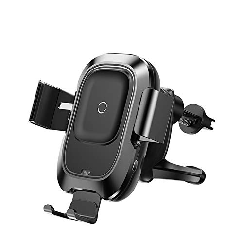 GYAM Cargador Coche inalámbrico 15 W sujeción automática, Carga termostática rápida, Cargador Montaje ventilación Aire iPhone 12/11/11 Pro/XR/XS/X / 8, Samsung S20 / Note10 / S10 / S9 / S8 / S7