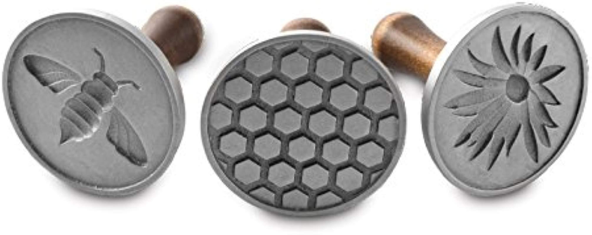 Nordic Ware Honeybee Cast Cookie Stamps Metallic