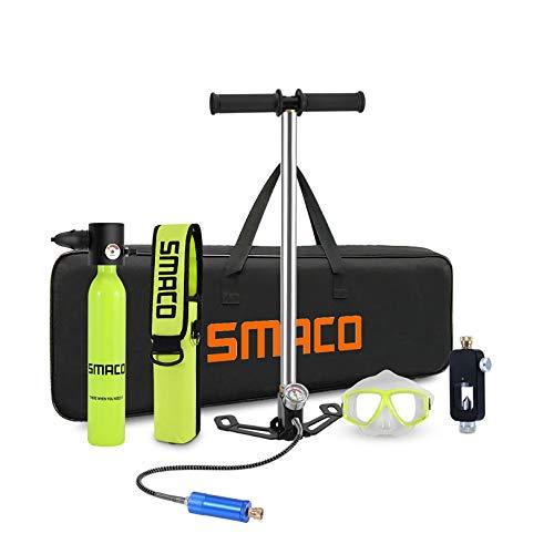 SMACO S300 Equipo de Oxígeno para Bucearde 0,5L Bombona Oxigeno Portatil Mini Botella de Buceo con Capacidad de 5-10 Minutos Buceo De Oxígeno del Mini Tanque (Entrega en 10 días)