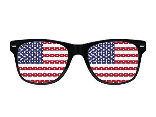 Alsino WM Lochbrille Pinehole Fanbrille Fussball Brille Länderbrille Gitterbrille Rasterbrille, wählen:V-1152 USA