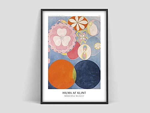 Póster de exposición Hilma af Klint, impresión de arte abstracto, arte sueco, Hilma af Klint, lienzo decorativo sin marco familiar P 30x45cm